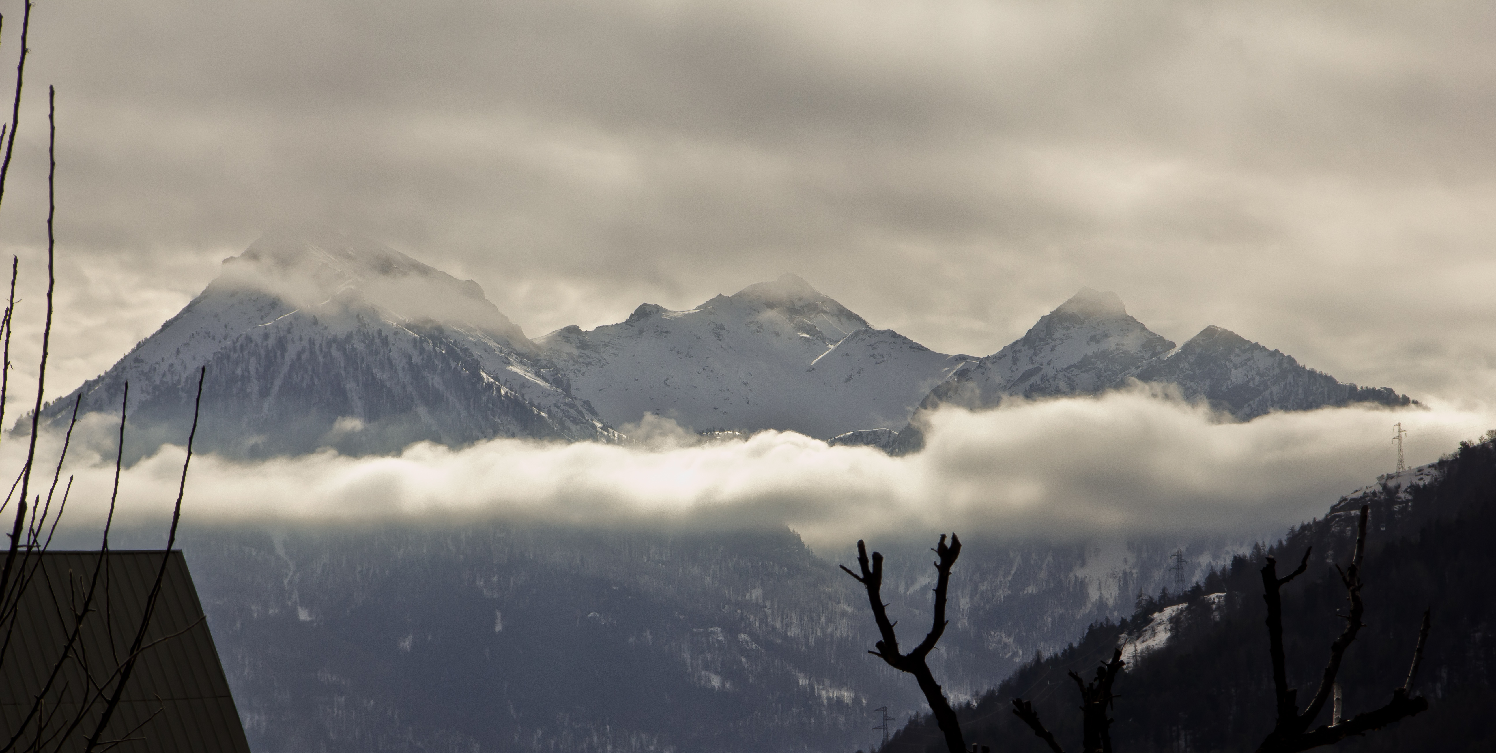 mountain snow clouds - photo #17